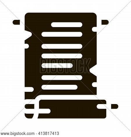 Scroll Of Parchment Paper Glyph Icon Vector. Scroll Of Parchment Paper Sign. Isolated Symbol Illustr