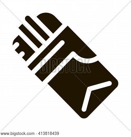 Bacon And Cheese Sandwich Glyph Icon Vector. Bacon And Cheese Sandwich Sign. Isolated Symbol Illustr