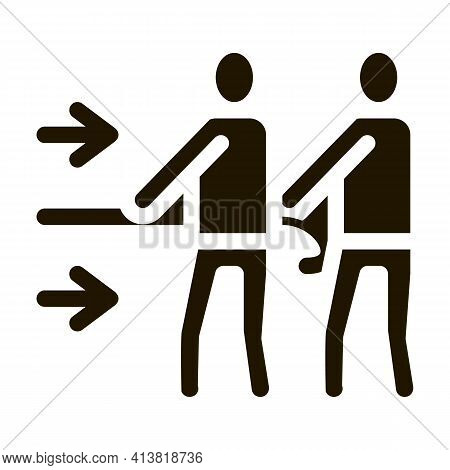 Team Efforts Of People Glyph Icon Vector. Team Efforts Of People Sign. Isolated Symbol Illustration