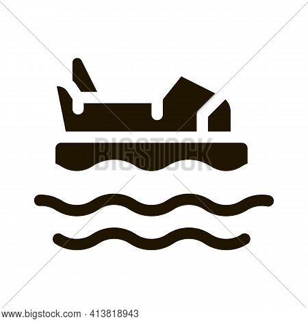 Bumper Water Machine Glyph Icon Vector. Bumper Water Machine Sign. Isolated Symbol Illustration