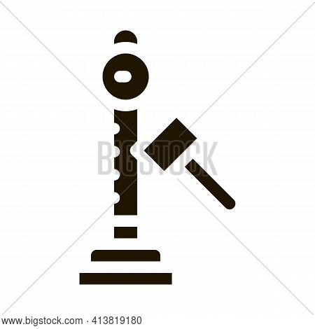 Power Attraction To Measure Strength Glyph Icon Vector. Power Attraction To Measure Strength Sign. I