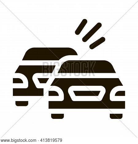 Overtaking Previous Car Glyph Icon Vector. Overtaking Previous Car Sign. Isolated Symbol Illustratio