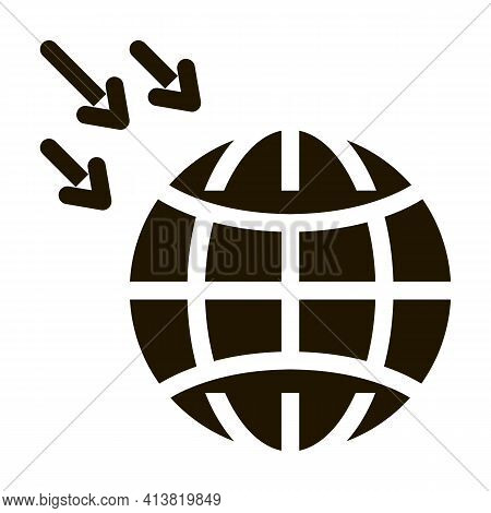 Atmospheric Pressure Of Planet Glyph Icon Vector. Atmospheric Pressure Of Planet Sign. Isolated Symb