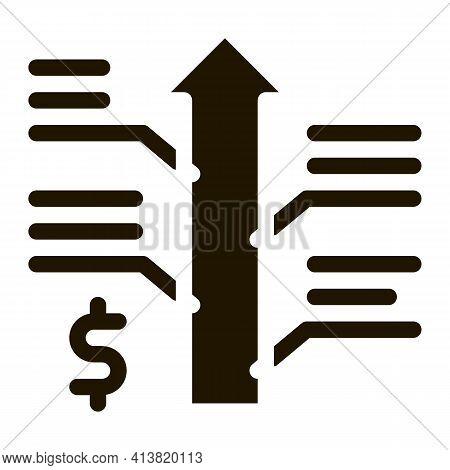 Exchange Rate Appreciation Glyph Icon Vector. Exchange Rate Appreciation Sign. Isolated Symbol Illus