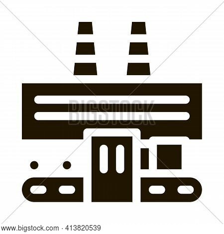 Thermal Power Plant Glyph Icon Vector. Thermal Power Plant Sign. Isolated Symbol Illustration