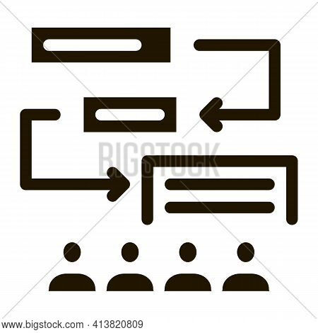 Replacement Components Of Algorithm Glyph Icon Vector. Replacement Components Of Algorithm Sign. Iso