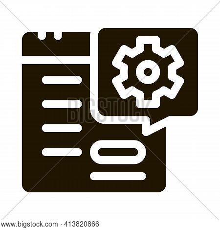 Technical Day On Calendar Glyph Icon Vector. Technical Day On Calendar Sign. Isolated Symbol Illustr