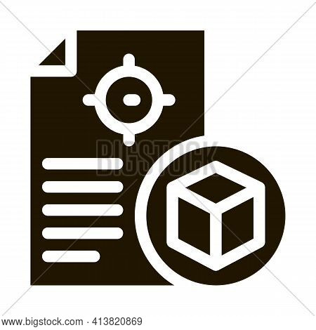 Parcel Delivery Document Glyph Icon Vector. Parcel Delivery Document Sign. Isolated Symbol Illustrat