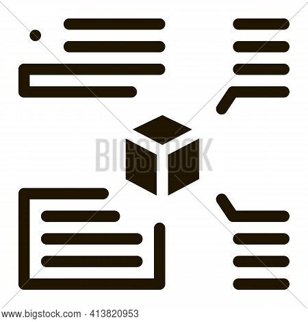 Measurement Of Parameters Of Parcel Glyph Icon Vector. Measurement Of Parameters Of Parcel Sign. Iso