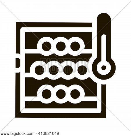 Temperature In Wine Cellar Glyph Icon Vector. Temperature In Wine Cellar Sign. Isolated Symbol Illus