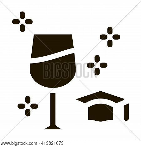 Wine Expert Taster Glyph Icon Vector. Wine Expert Taster Sign. Isolated Symbol Illustration