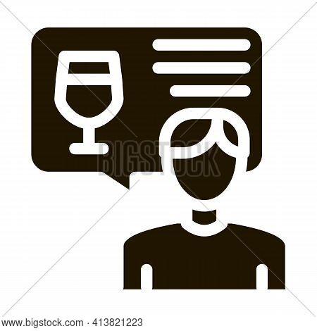 Representative Of Wine Glyph Icon Vector. Representative Of Wine Sign. Isolated Symbol Illustration