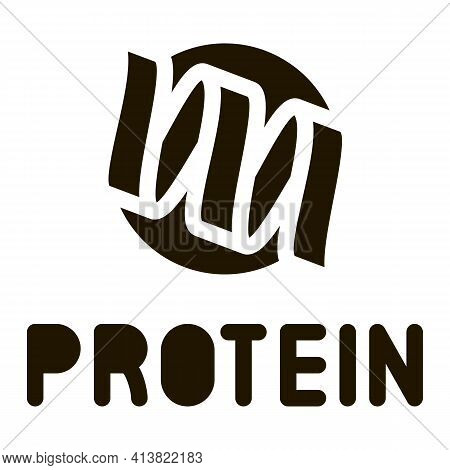 Need For Protein Glyph Icon Vector. Need For Protein Sign. Isolated Symbol Illustration