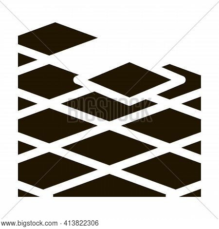 Laying Floor Tiles Glyph Icon Vector. Laying Floor Tiles Sign. Isolated Symbol Illustration