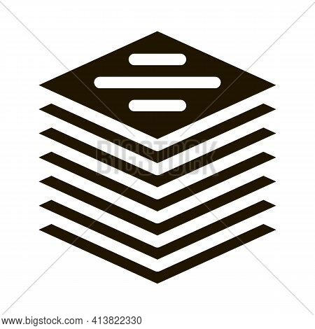 Stack Of Tiles Glyph Icon Vector. Stack Of Tiles Sign. Isolated Symbol Illustration