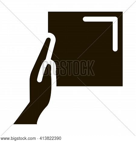 Align Tiles With Hands Glyph Icon Vector. Align Tiles With Hands Sign. Isolated Symbol Illustration