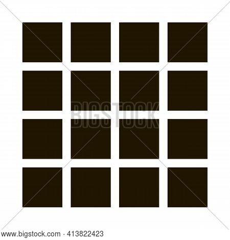 Symmetrical Tile Surface Glyph Icon Vector. Symmetrical Tile Surface Sign. Isolated Symbol Illustrat