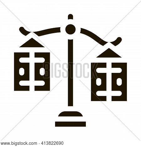 Significance Preponderance Of Different Products Glyph Icon Vector. Significance Preponderance Of Di