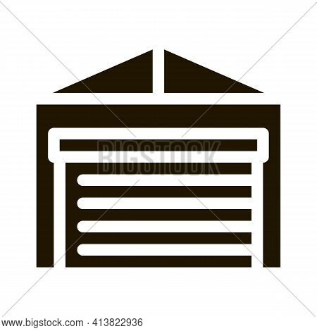 Car Parking Closed Glyph Icon Vector. Car Parking Closed Sign. Isolated Symbol Illustration
