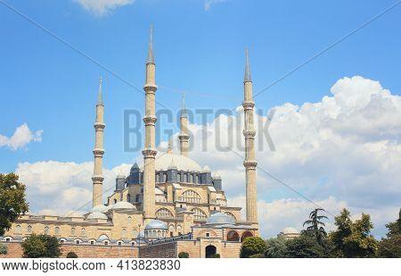 Mimar Sinan's Masterpiece, Selimiye Mosque In Edirne. Ramadan Background. Ramadan In Edirne. Islamic