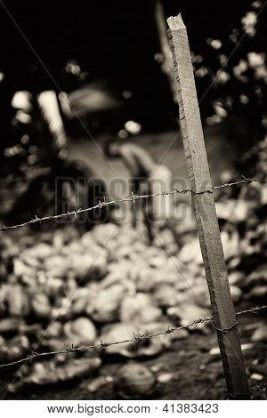 Sklaverei. Monochrom abgeschwächt
