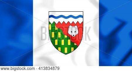 3d Flag Of Northwest Territories, Canada. 3d Illustration.