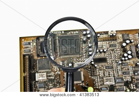 ?hip under a magnifying glass.