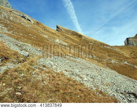 Late Autumn On High Alpine Pastures In The Alpstein Mountain Range And Appenzellerland Tourist Regio