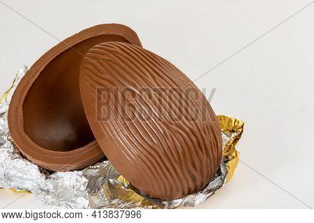 Brazilian Easter Chocolate Egg, Isolated On White Background