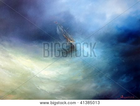 Seascape Storm in the Indian Ocean