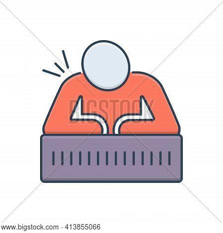 Color Illustration Icon For Chronic-pain Chronic Pain Vertebrae Muscle Injury