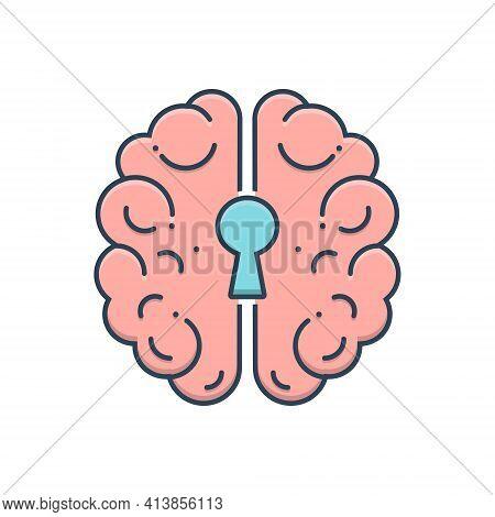 Color Illustration Icon For Psychiatry Neurology Emergency Medicine Depression