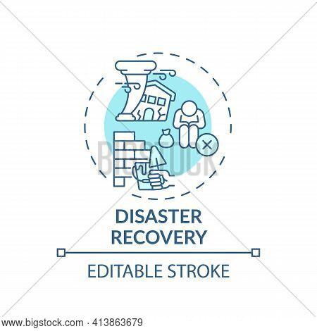 Disaster Recovery Concept Icon. Legal Services Types. Process Of Renewing Things After Natural Disas