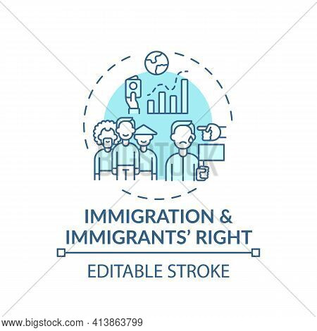 Immigration And Immigrants Right Concept Icon. Legal Services Types. Law That Protects People From O