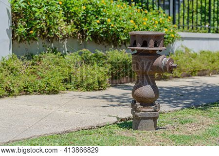 New Orleans, La - April 27: Fire Hydrant Installed In 1869, Photographed On April 27, 2020 In New Or