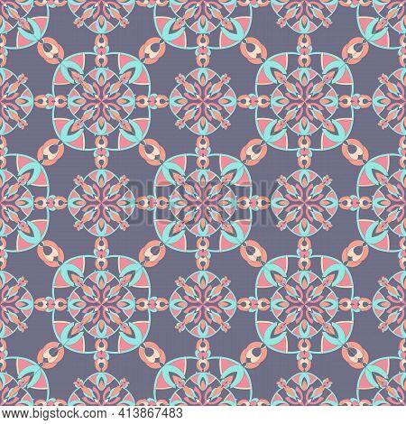 Arabic Geometric Hexagonal Pattern. Outline Hand Drawn Illustration Of Arabic Geometric Hexagonal Ve
