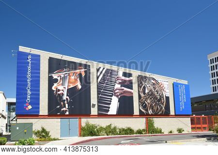 SANTA ANA, CA - APRIL 30, 2017: Orange County School of the Arts. The charter school caters to 7th to12th grade students with talents in the performing, visual, literary arts, and culinary arts.