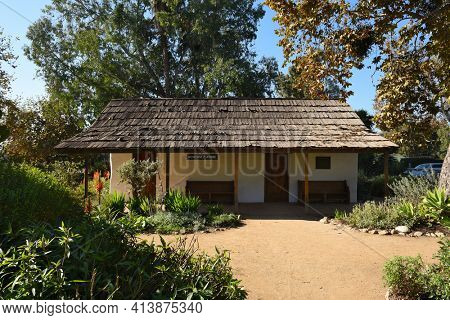 San Juan Capistrano, Ca - December 1, 2017: On the National Historic Register, it was the home of Dona Polonia Montanez. Religious services were held during a period when the mission was inoperative.