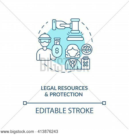 Legal Resources And Protection Concept Icon. International Stocks Challenge Idea Thin Line Illustrat