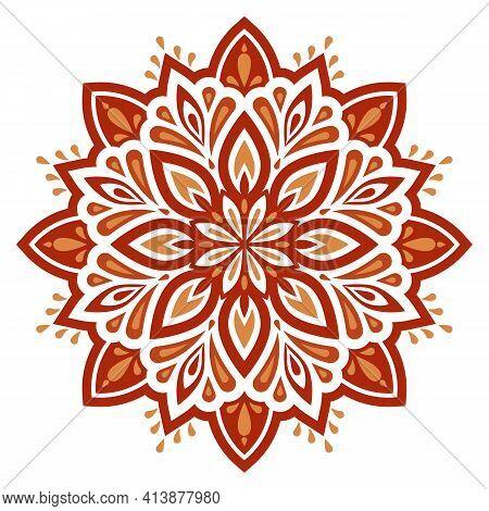 Mandala. Vector Decorative Elements. Oriental Pattern, Vector Illustration. Colorful Mandala. Design
