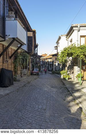 Old Houses At Old Town Of Sozopol, Bulgaria