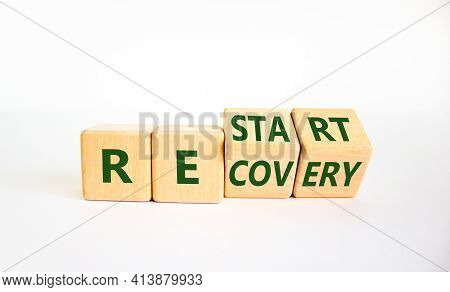 Restart And Recovery Symbol. Turned Cubes And Changed The Word 'restart' To 'recovery'. Beautiful Wh