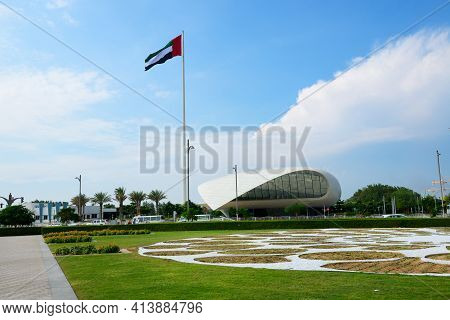 Dubai, Uae - November 16: The View On Etihad Museum. Its The Location Where In 1971 The Emirates Rul
