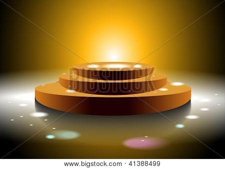 Golden Disco Podium
