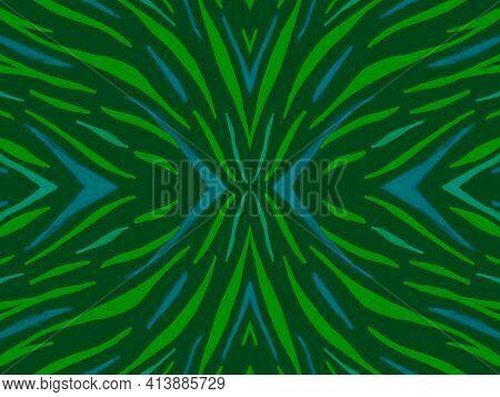 Seamless Ethnic Print. Fashion Exotic Fabric Design. Camouflage Safari Background. Dark Tiger Skin.