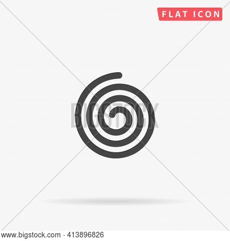 Spiral Flat Vector Icon. Hand Drawn Style Design Illustrations.