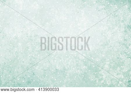 Pastel Green Gray White Antique Old Background With Blur, Gradient And Watercolor Texture. Space For