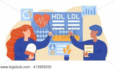 High Cholesterol Blood Pressure. People Negotiate Case History In Personal Card. Ldl Hdl Heart. Flat