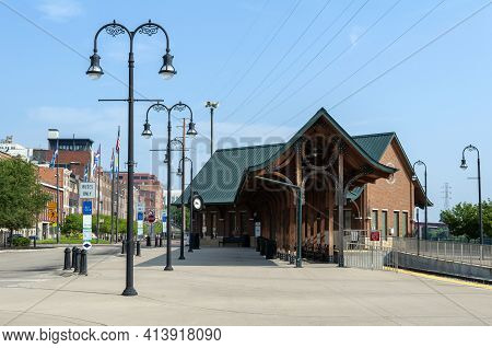 Riverfront Bus And Train Terminal In Nashville, Tennessee, United States Of America.