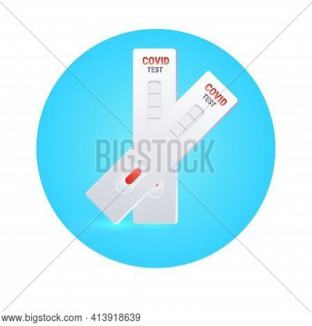 Blood Sample On Coronavirus Rapid Diagnostic Test Cassette Identifying Antibodies For Covid-19 Conce